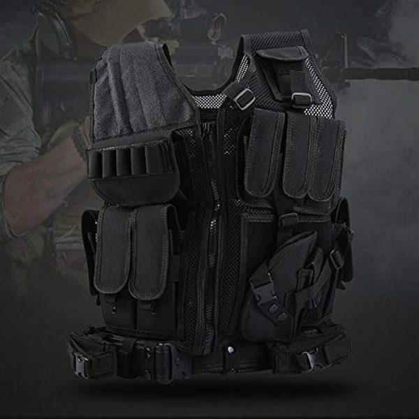 BGJ Airsoft Tactical Vest 5 BGJ Military Equipment Tactical Vest Airsoft Vest war Game Army Training Paintball Combat Protective Vest SWAT Fishing Police Vest