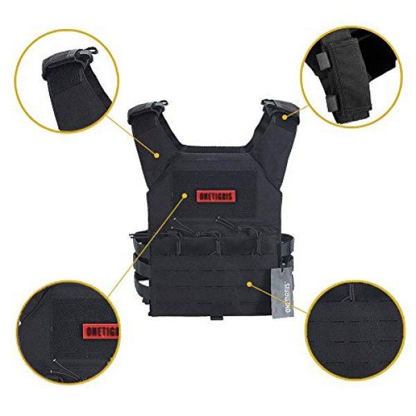 OneTigris Airsoft Tactical Vest 4 OneTigris Black Tactical Vest & Chest Rig Set