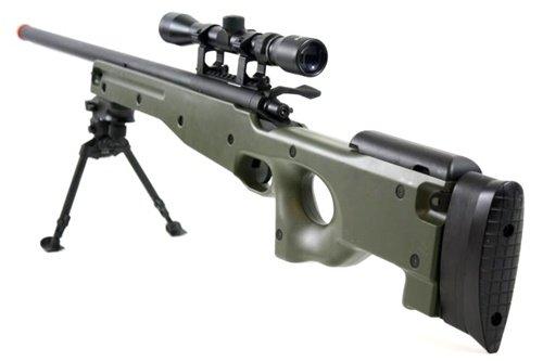 BBTac  2 BBTac BT-96 Bolt Action Sniper Rifle w/ 3-9x Scope and Bipod - OD GREEN