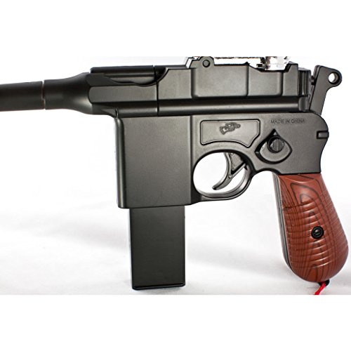 Blossom  3 Blossom w/ 6mm BB New WW2 MAUSER BROOMHANDLE C96 Modern German Airsoft Spring Hand Gun Pistol