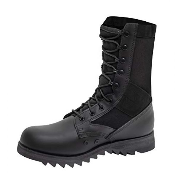 Rothco Combat Boot 2 Black Ripple Sole Jungle Boots