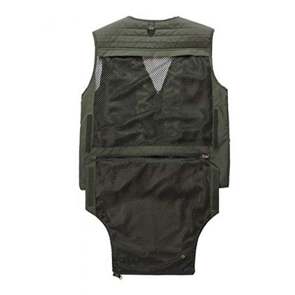 DAFREW Airsoft Tactical Vest 5 DAFREW Casual Vest Outdoor Photography Vest Four Seasons Fishing Travel Vest Grid Vest (Color : Khaki, Size : L)