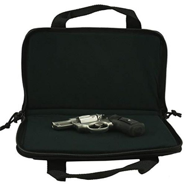 K-Cliffs Pistol Case 6 K-Cliffs Pistol Case Lockable Memory Foam Handgun Storage Pouch Carrying Bag   6 Magazine Pockets Black/Olive