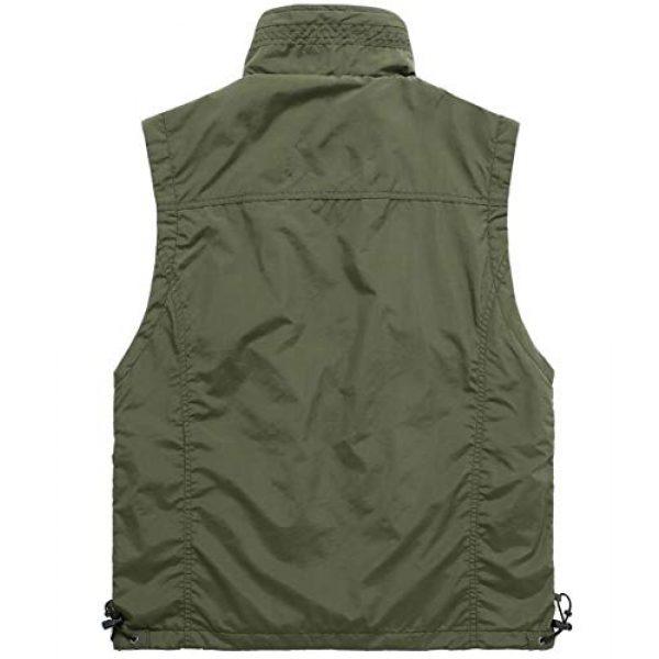 DAFREW Airsoft Tactical Vest 2 DAFREW Casual Vest Thin Section Spring and Autumn Vest Men's Multi-Pocket Outdoor Photography Vest Middle-Aged Vest (Color : Khaki, Size : M)