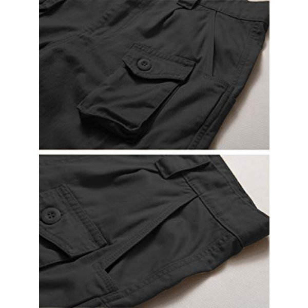 AKARMY Tactical Pant 4 Men's Lightweight Cotton Casual Work Pants,Relaxed Fit Tactical Army Ripstop Cargo Pants with 11 Pockets