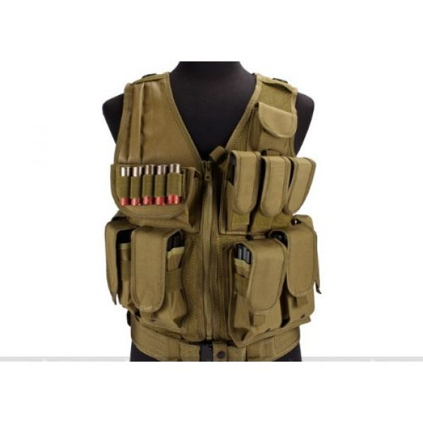 enmu pancho Airsoft Tactical Vest 1 Airsoft Zombie Hunter Starter's Protective Vest Package for airsoft - Tan