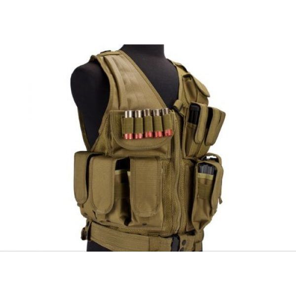 enmu pancho Airsoft Tactical Vest 3 Airsoft Zombie Hunter Starter's Protective Vest Package for airsoft - Tan