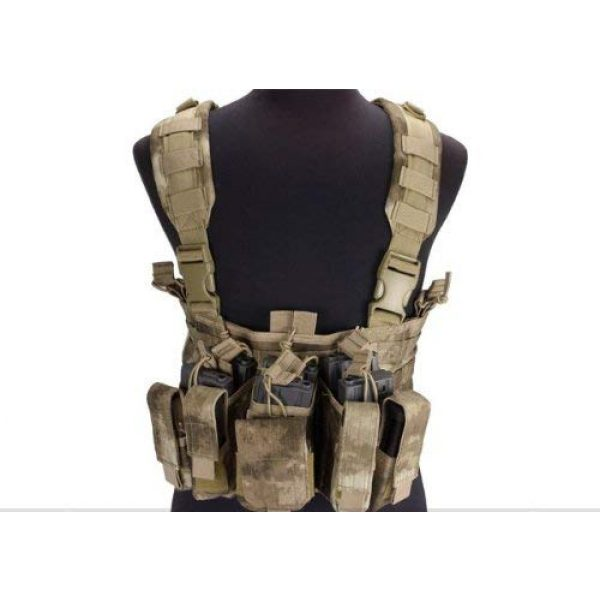 enmu pancho Airsoft Tactical Vest 1 Condor Gen 5 Tactical MOLLE Recon Chest Rig for Airsoft Gaming- A-TACS