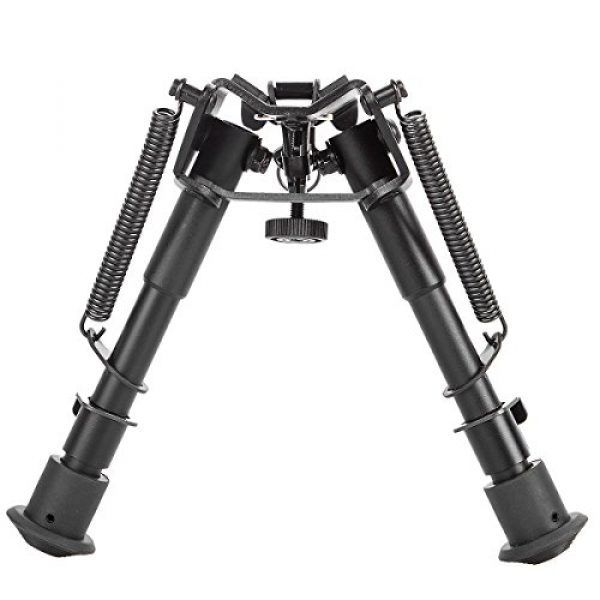 Gazelle Trading Airsoft Gun Barrel Bipod 4 Gazelle Trading Adjustable 6-9״ Rifle Bipod Sling Mount Spring Sniper Tactical with Adapter Monopods