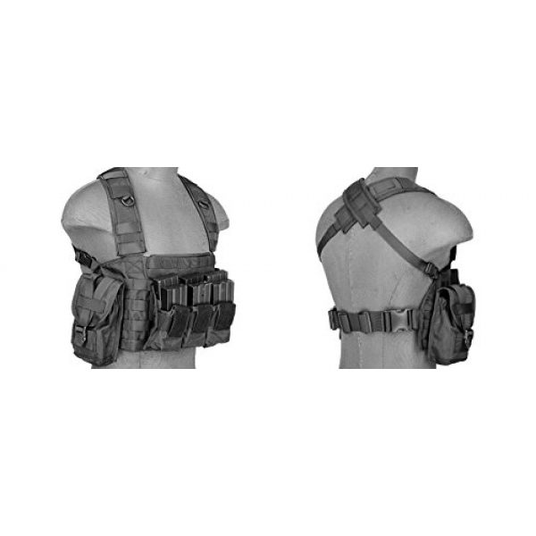 LT Airsoft Tactical Vest 4 LT Airsoft Tactical Vest Modular Rig Mag Pouch Hydration Pouch Multi Colors