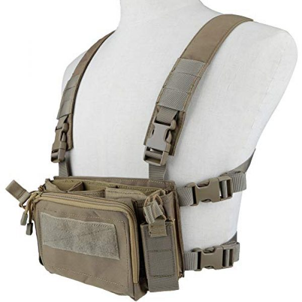 Tactical Area Airsoft Tactical Vest 4 Tactical Area Military Multi-Functional Vest Breathable Lightweight Vest with Detachable Pouches and Straps