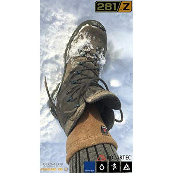 281Z Combat Boot Sock Liner 3 Military Warm 6 inch Liners Boot Socks - Outdoor Tactical Hiking Sport - Polartec Fleece Winter Socks (Green Khaki)