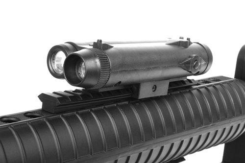 Well  6 wellfire m16a3 Spring Airsoft Rifle - w/Vertical Grip & Flashlight Unit m16(Airsoft Gun)