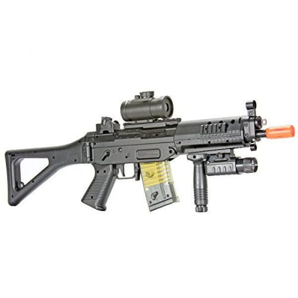 BBTac Airsoft Rifle 2 BBTac Airsoft Gun Package - Black Ops - Collection of Airsoft Guns - Powerful Spring Rifle, Shotgun, Two SMG, Mini Pistols and BB Pellets, Great for Starter Pack Game Play