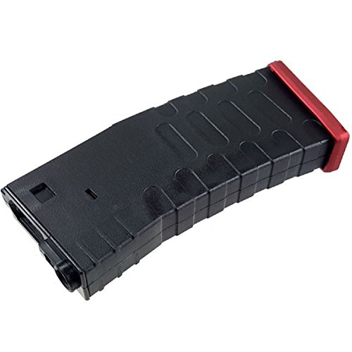 Airsoft Shopping Mall  1 Airsoft Shooting Gear APS Hi-Cap U Mag Magazine for FMR/ASR/UAR/M-Series AEG Black/Red