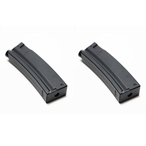 Airsoft Shopping Mall  1 Airsoft Shooting Gear 2pcs Pack CYMA 65rd Mid-Cap Short Magazine for MP5 Series AEG Black