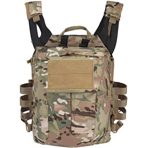 Kayheng Airsoft Tactical Vest 4 Kayheng Tactical Vest + Backpack/Modular Vest + Backpack/Breathable Combat Training JPC Vest Adjustable Lightweight MOLLE Vest