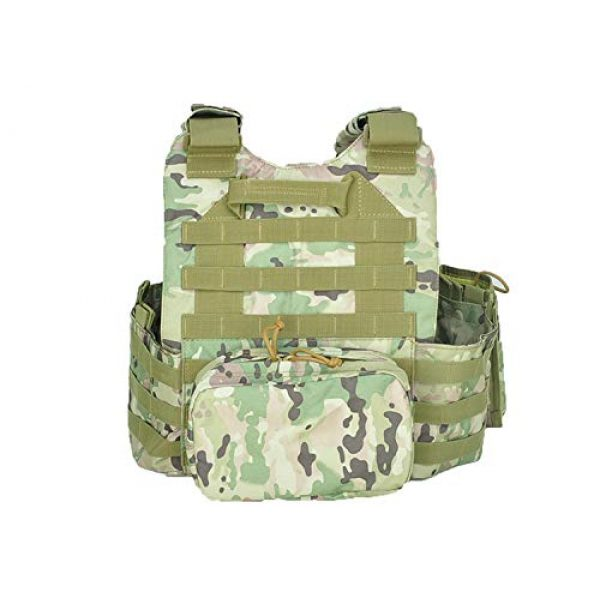 BGJ Airsoft Tactical Vest 4 BGJ Military Tactical Vest Army Airsoft Molle Vest CS Game Combat Gear Outdoor Various Accessory Kit Hunting Clothing Vest Multicam