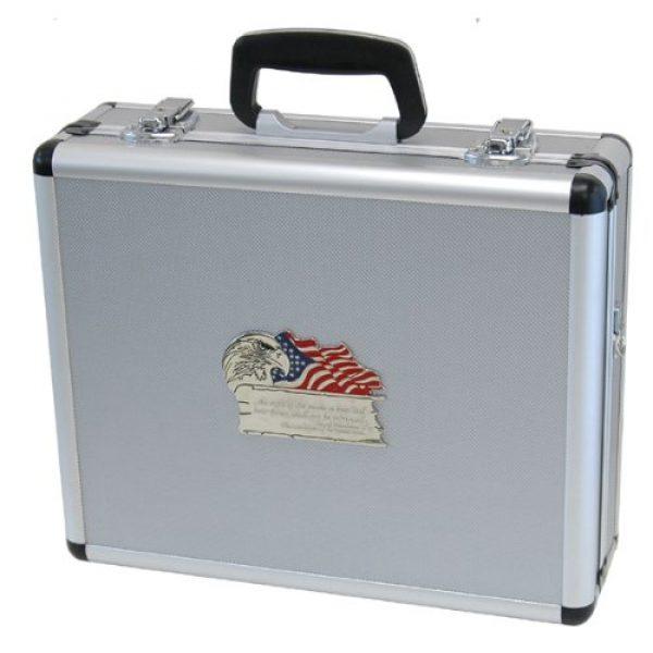 T.Z. Case International Pistol Case 1 T.Z. Case International 2Nd Amendment 4 Pistol Promo Case, Silver, 16-Inch