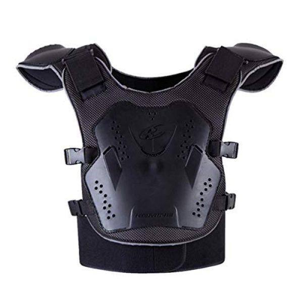 BESPORTBLE Airsoft Tactical Vest 1 BESPORTBLE Children Protective Vest Gear Safety Armour Jacket Protection Vest Protective Gear for Sports Kids Outdoor (Black)