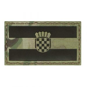 Tactical Freaky Airsoft Morale Patch 1 IR Multicam Croatia Zastava Hrvatske Trobojnica Flag 2x3.5 IFF Tactical Morale Touch Fastener Patch