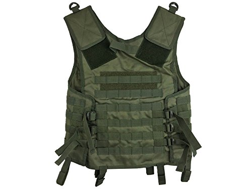 Maddog Airsoft Tactical Vest 3 Maddog Tactical MOLLE Modular Utility Vest with Breathable Mesh Liner and Heavy Duty Zipper - Adjustable Sizing