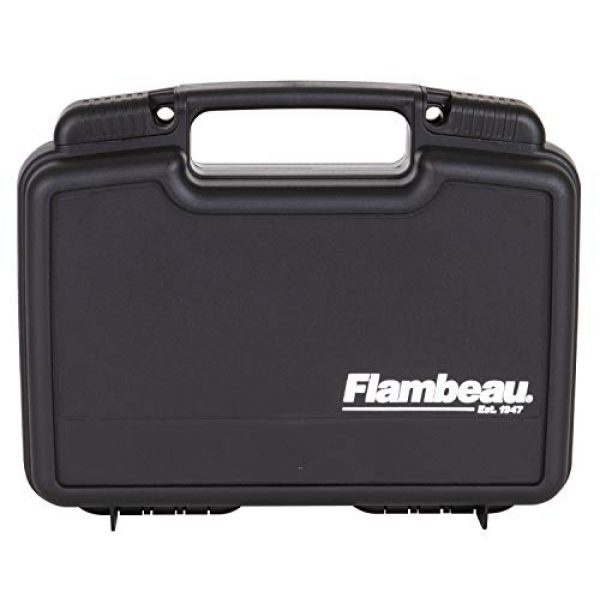 "Flambeau Outdoors Pistol Case 1 Flambeau Outdoors 1011 Safe Shot 10"" Pistol Pack Case, Portable Firearm Storage Accessory"