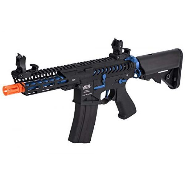 Lancer Tactical Airsoft Rifle 3 Lancer Tactical LT-29BACNL-G2-ME Enforcer AEG Airsoft Rifle Skeleton Black and Navy Blue 350 FPS