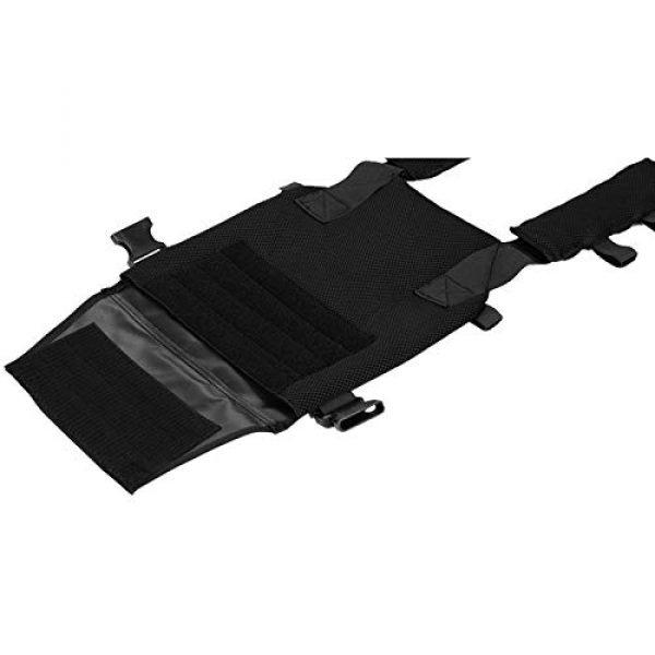 Lancer Tactical Airsoft Tactical Vest 3 Lancer Tactical Polyester Airsoft QR Lightweight Tactical Vest Nylon Black Adjustable Combat Training
