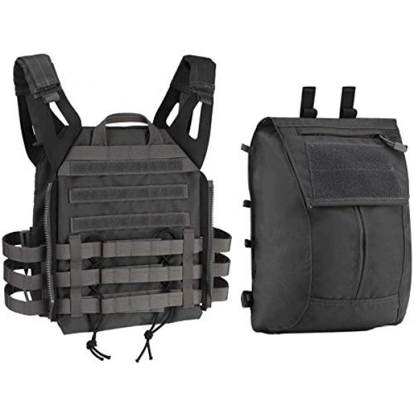 LEJIE Airsoft Tactical Vest 1 Tactical JPC MOLLE Protective Vest with Removable Large Capacity Backpack for Airsoft Paintball Hunting