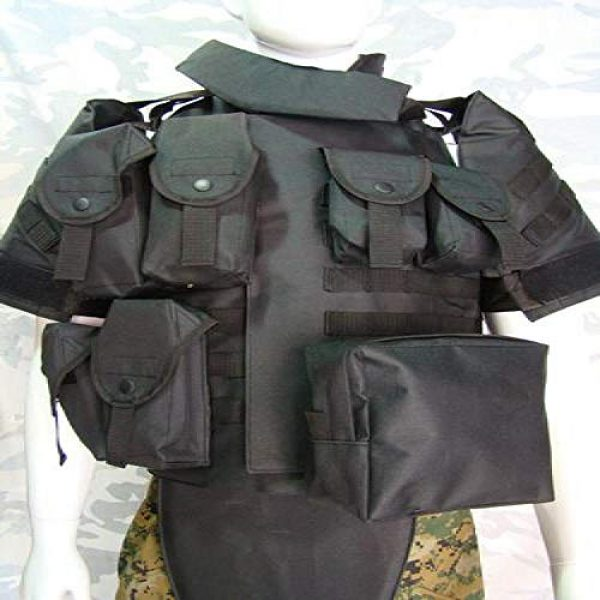 BGJ Airsoft Tactical Vest 2 Outdoors Tactical Paintball Airsoft Military OTV Body Armor Durable Carrier Combat Vest Men Soft Cushion Pads Full Adjustable Wa
