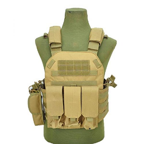 BGJ Airsoft Tactical Vest 3 BGJ Military Tactical Vest Army Airsoft Molle Vest CS Game Combat Gear Outdoor Various Accessory Kit Hunting Clothing Vest Multicam