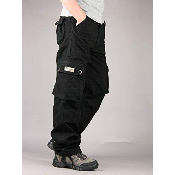 Raroauf Tactical Pant 2 Men's Military Tactical Pants Casual Cargo Pants Combat Trousers with Multi-Pocket