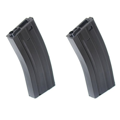 Airsoft Shopping Mall  1 Airsoft Shooting Gear 2pcs 300rd Mag Hi-Cap Magazine For G&P Tokyo Marui ICS Classic Army M-Series M4 M16 AEG