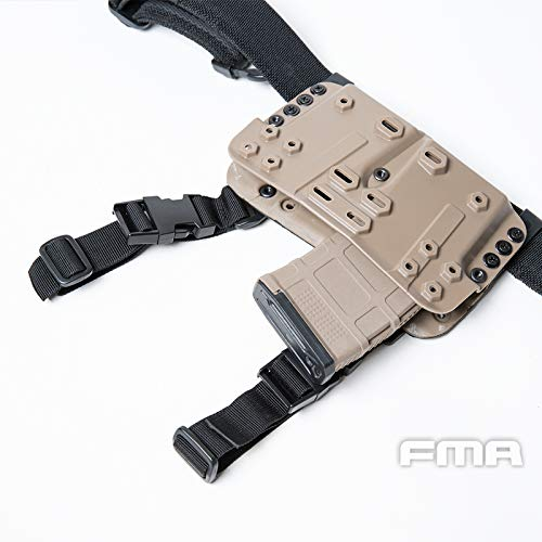 FMA  5 FMA Drop Leg Mag Carrier for Tactical Airsoft Hunting Game DE