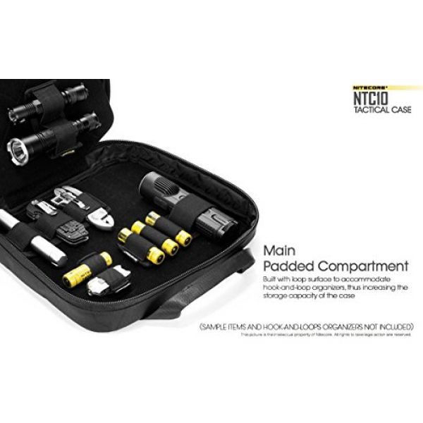 Nitecore Battery Case 3 Nitecore NTC10 Tactical Gear Carry case with EdisonBright BBX3 Battery case
