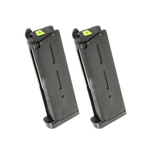 Generica  1 Generica Airsoft Spare Parts APS 2pcs 25rd Turbo Magazine for Tokyo Marui 1911 APS Marcux Crxius GBB Pistol