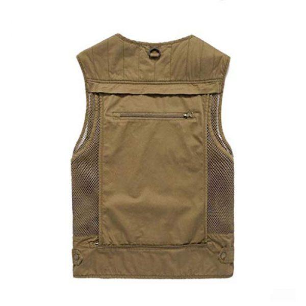 DAFREW Airsoft Tactical Vest 2 DAFREW Multi-Pocket Vests Vests Men's Casual Fishing Photography Vests mesh Breathable Vest (Color : Army Green, Size : L)