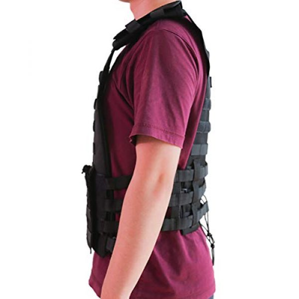 KIDYBELL Airsoft Tactical Vest 4 KIDYBELL Tactical Molle Vest Breathable Combat Training Vest 1000D Oxford Cloth Outdoor Activity Air Soft Vest Sports Equipment Modular Vest