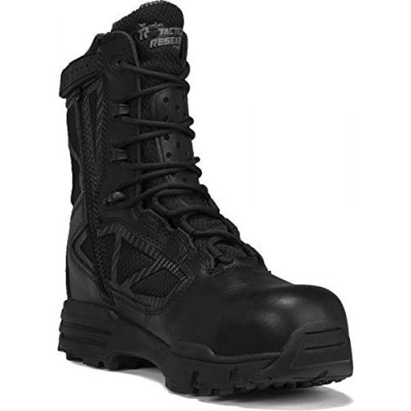 """Belleville Tactical Research TR Combat Boot 1 Belleville Tactical Research TR Men's TR Chrome TR998Z WP CT 8"""" Waterproof Side-Zip Composite Toe Boot"""