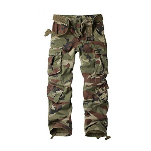 TRGPSG Tactical Pant 1 Women's Casual Combat Cargo Pants, Cotton Outdoor Camouflage Military Multi Pockets Work Pants 8
