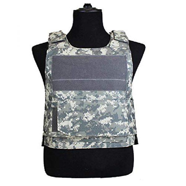 BGJ Airsoft Tactical Vest 6 BGJ Outdoor Tactical Vest Military Molle Armor Plate Waistcoat Airsoft Carrier Vest Camo Woodland Hunting Protection Combat CS Vest
