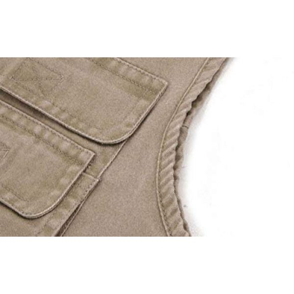 DAFREW Airsoft Tactical Vest 7 DAFREW Multi-Pocket Vest Fishing Vest Outdoor Photography Vest Spring and Autumn Solid Color Vest (Color : Beige, Size : XXXXL)