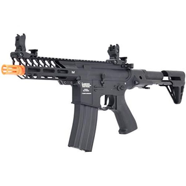 Lancer Tactical Airsoft Rifle 3 Lancer Tactical ProLine NEEDLETAIL PDW Airsoft AEG Rifle Low 350 FPS Black