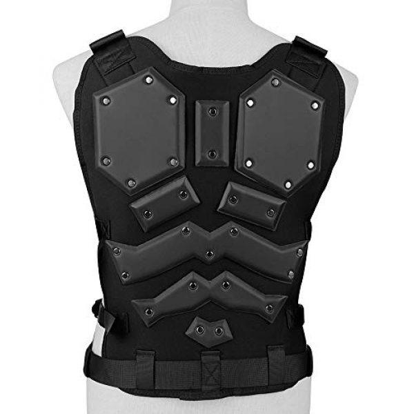 BGJ Airsoft Tactical Vest 7 Tactical Vest Protective Multi-Functional Body Armor Outdoor Airsoft Paintball CS Wargame Protection Equipment Molle Vests