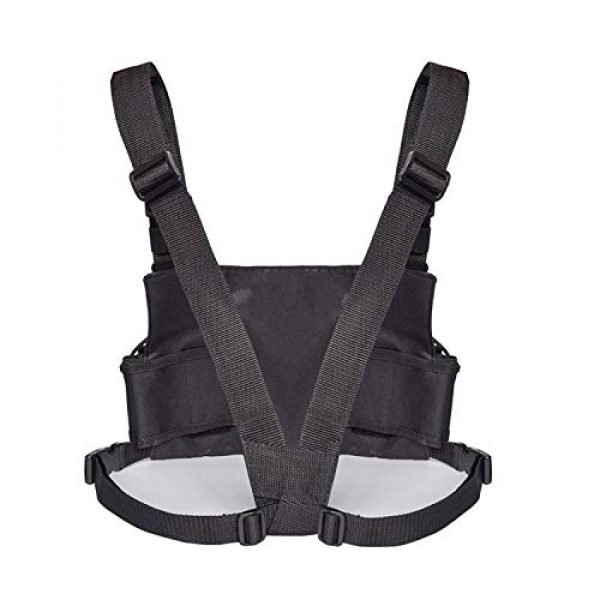 DETECH Airsoft Tactical Vest 2 DETECH Black Camouflage Hunting Radio Harness Chest Rig Front Pack Pouch Holster Vest Rig for Two Way Radio