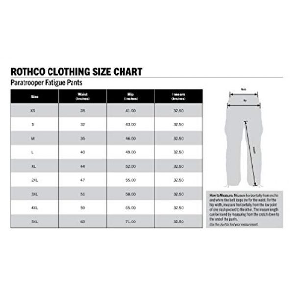 Rothco Tactical BDU Pant 4 Vintage Paratrooper Fatigues - Woodland Camo - X-Large (39-43)