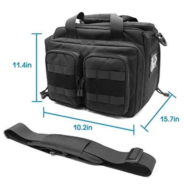 Kosse Pistol Case 7 Kosse Tactical Gun Range Bag, Deluxe Pistol Shooting Range Duffle Bag Large Handguns Magazine Ammo Gear Accessories Pouch for Hunting Shooting Range Sport