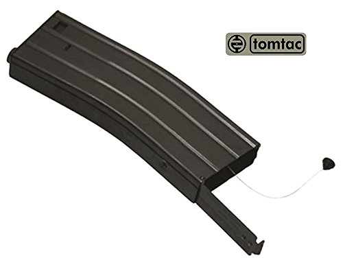 TOMTAC  2 TOMTAC Airsoft M Series Metal Black Flash Magazine MAG 360RDS ASG Pull Cord