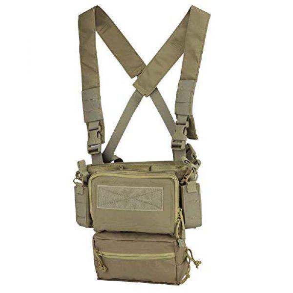 OAREA Airsoft Tactical Vest 2 OAREA Hunting Tactical Vest Magazine Pouch Modular Chest Rig Set Drop Pouch 3PCS Mag Insert Set
